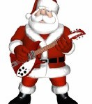 Santa Playing a Guitar 1