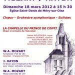 Affiche concert Mozart/Haydn