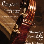 Affiche concert Musique italienne du 18e siècle