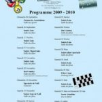 Mery sur Oise – Programme 2009/2010
