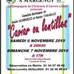 Théâtre à Margency : «Caviar ou lentilles»