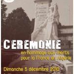 Cérémonie en hommage aux morts pour la France en Algérie