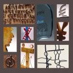 Jacques Villeglé Sculptures