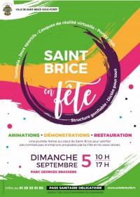 Feu d'artifice et Saint-Brice en fête