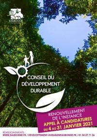 Candidature Conseil du Développement Durable