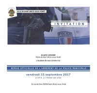 Remise officielle de l'armement de la police municipale