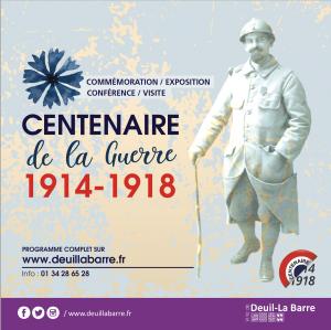 Centenaire de la guerre 14-18 à Deuil la barre