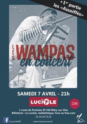Concert  Les Wampas à la Luciole